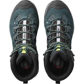 Salomon M's Quest 4D 3 GTX Shoes Mallard Blue/Reflecting Pond/Acid Lime